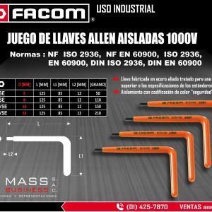 JGO. DE LLAVES ALLEN AISLADAS 1000V- 5MM 8MM 10MM 12MM