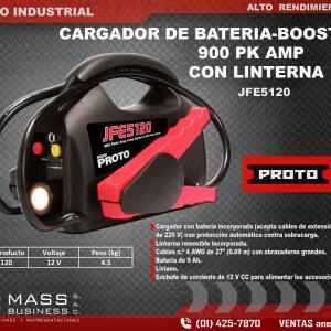 CARGADOR DE BATERIA-BOOSTER 900 PK AMP C/LINTERNA