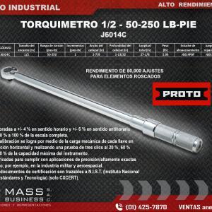 TORQUIMETRO 1/2 - 50-250 LB-PIE