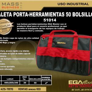 MALETA ELECTRICISTA DE 50 BOLSILLOS