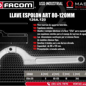 LLAVE ESPOLON ART 80-120MM