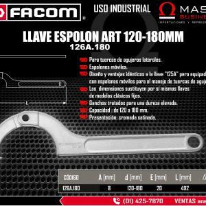 LLAVE ESPOLON ART 120-180