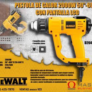 PISTOLA DE CALOR 2000 W 50-600 C -PANTALLA LCD