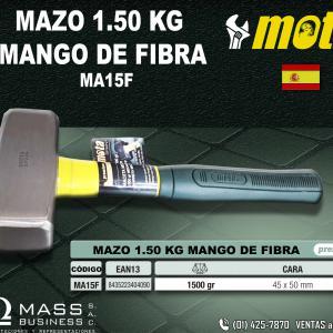 MAZO 1.50 KG MANGO DE FIBRA