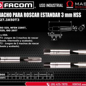 MACHO PARA ROSCAR ESTANDAR 3 mm HSS