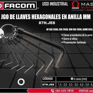 JGO LLAVES HEXAGONALES 8 PZA EN ANILLO (1.5 MM - 8.0MM)