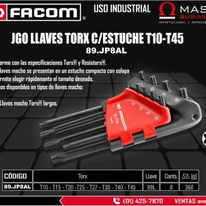 JGO LLAVES TORX 8 PZAS C/ESTUCHE (T10-T45)