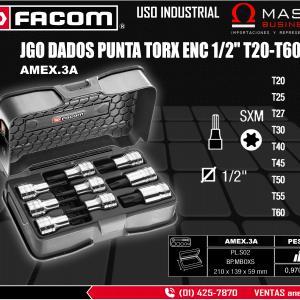 JGO DADOS PUNTA TORX ENC 1/2 T20-T60