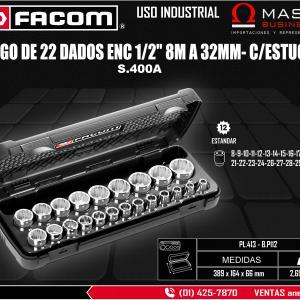 JUEGO DE 22 DADOS ENC 1/2 8M A 32MM- C/ESTUCHE