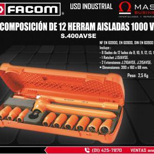 COMP DE 12 HERRAM AISLADAS 1000 V