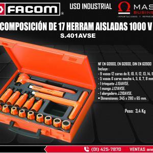 COMP DE 17 HERRAM AISLADAS 1000 V