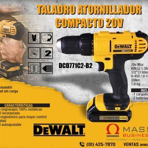 TALADRO ATORNILLADOR COMPACTO 20V MAX