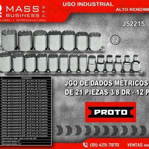 JGO DE DADOS 3/8 21 PZAS MM -12P