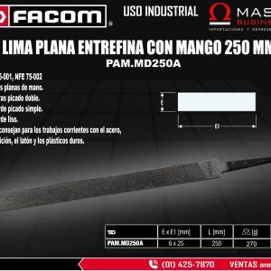 LIMA PLANA ENTREFINA 250MM