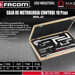 CAJA DE METROLOGIA CONTROL 10PZAS