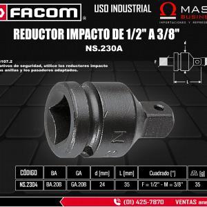 REDUCTOR IMPACTO DE 1/2 A 3/8