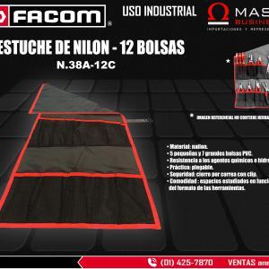 ESTUCHE DE NAILON - 12 BOLSAS