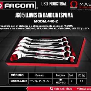 JGO LLAVES MIXTAS 5 PZAS EN BANDEJA ( 27MM-29MM-30MM-32MM-34MM )