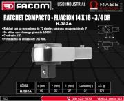 RATCHET COMPACTO - FIJACION 14 X 18 - 3/4 DR