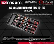 JGO 8 DESTORNILLADORES TORX T9 - T40