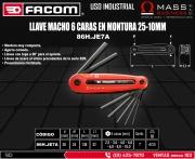 LLAVE MACHO 6 CARAS EN MONTURA 25-10MM