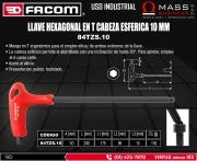 LLAVE HEXAGONAL EN T CABEZA ESFERICA 10 mm
